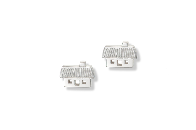 Petite Cottage Silver Earrings