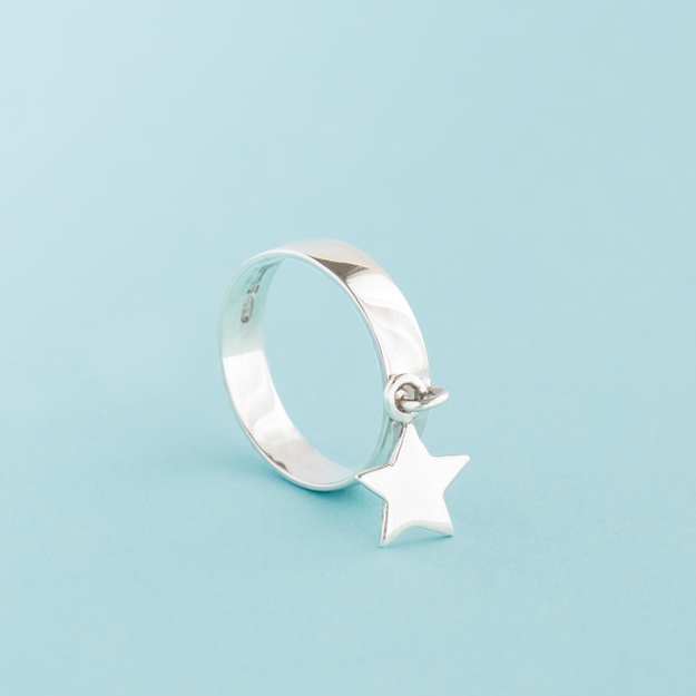 Silver Star Girl Ring